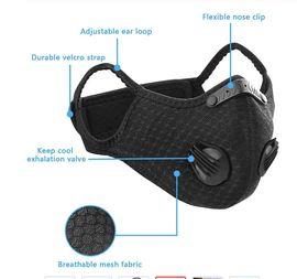 Medizinische Hilfsmittel, Rollstühle - Mund Nasen Maske - Ventil - schwarz