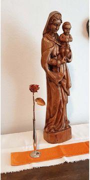 70cm antik Madonna Heilige Maria