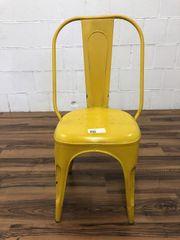 Blechstuhl gelb retro
