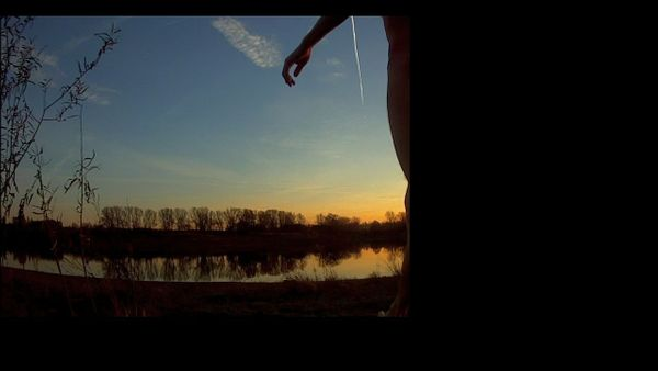 Schwimmen in der kalten Donau