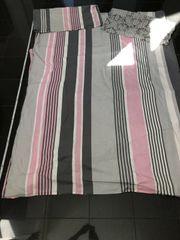 Meradiso Bettwäsche Bettbezug 145x200cm Kissenbezug