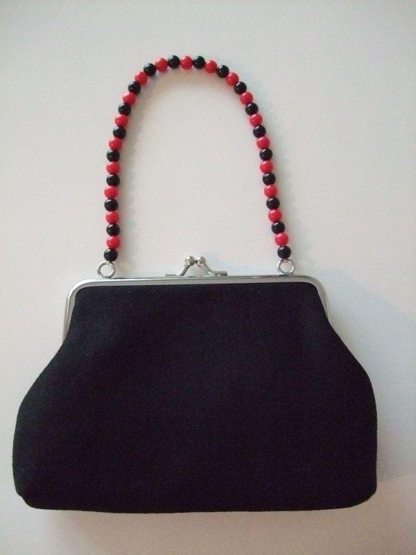 Kleine süße Handtasche - schwarz - NEU