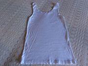 Hemd Trägerhemd U-Hemd Damen weiß