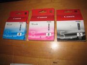 3 original Canon Tintenpatronen