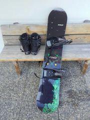 Snowboard mit Bindung und Boots