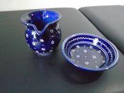 Gmundner-Keramik Zuckerdose und Milchkanne neuwertig