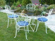 Gartenmöbel Sitzgruppe Metall 4 Stühle