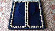 Perlenkette mit echten Zuchtperlen inkl