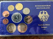 Deutsche Kursmünzensätze 1974 in PP