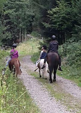 Ponyreiten im Bregenzer Wald