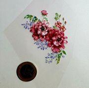 Textile Aufkleber klein Blumen
