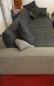 Couchgarnitur groß mit Hocker