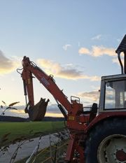 Massiver Bagger Anbaubagger Heckbagger Traktorbagger