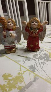 Engel Figuren mit Glimmer bunt