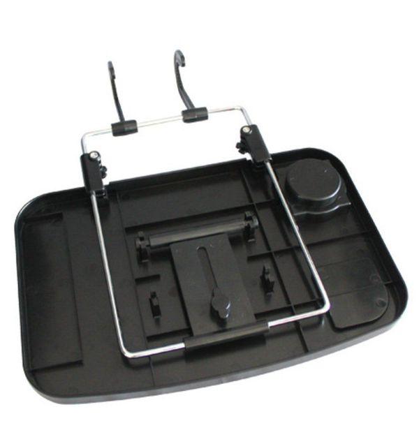 Kfz-Universalklapptisch für Lenkrad- Kopfstützenbefestigung