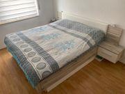 Schlafzimmerset Bett Schwebeschrank 2x Lattenrost