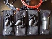 Sennheiser Drum-Kit dynamische Mikrophone evolution