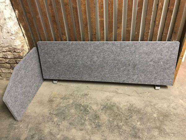 3x Akustik Trennwände aus Vlies