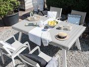 Gartentisch grau ausziehbar 175 255