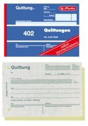 4x Herlitz Quittungsblock 402 A6