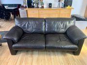 Echt Leder Sofa Couch ERPO