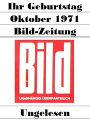 50 Geburtstag - Bild-Zeitung 23 10 1971