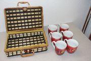 Weihnachtstassen Adventstassen im Kofferkorb Geschenkset
