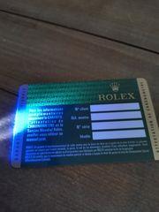 Rolex Zubehör Karte Booklets Hang-Tag