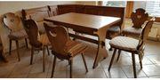 Eckbank Stühle Tisch ausziehbar Buffetschrank-
