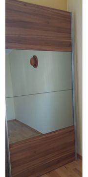 Kleiderschrank Nussbaumabbild Spiegel 2m breit