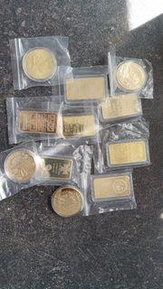 deko Goldbarren Münzen z b