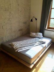 Designerbett aus Pollmeier Baubuche