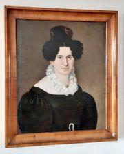 Biedermeier Porträt einer Dame - originaler