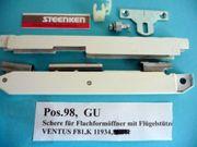GU-Scheren für Flachformöffner mit Flügelstütze
