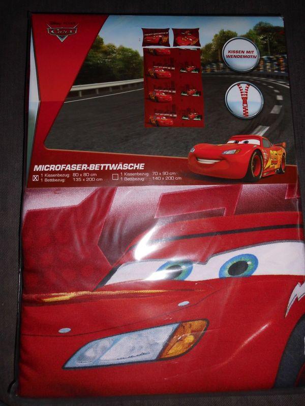 Microfaser Bettwäsche Cars Disney Pixar 135x200 Cm Wendemotiv Neu In
