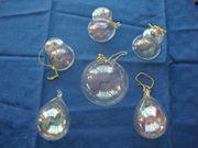Christbaumschmuck Weihnachten 6 Anhänger Glas