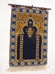 Wandteppich aus reiner Wolle Handgeknüpft
