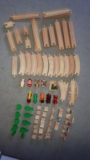 Eisenbahn Holz Set gross Schienen