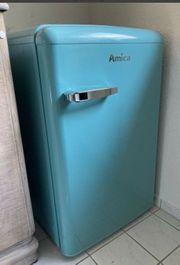 Amica Kühlschrank retro blau türkis