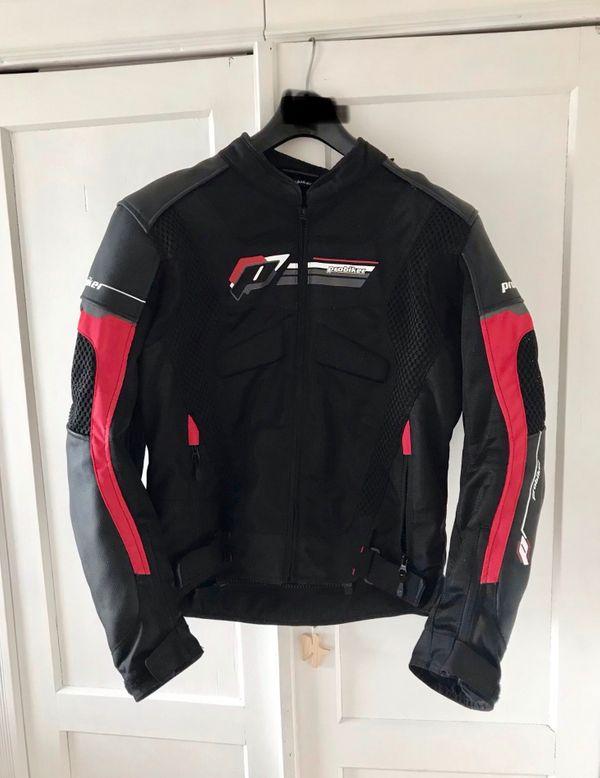 Motorradjacke Leder mit Textileinsatz Probiker