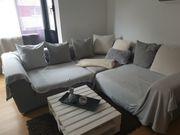 Couch Sofa grau