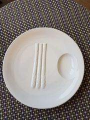 Hochwertiger dekorativer großer Spargel-Teller von