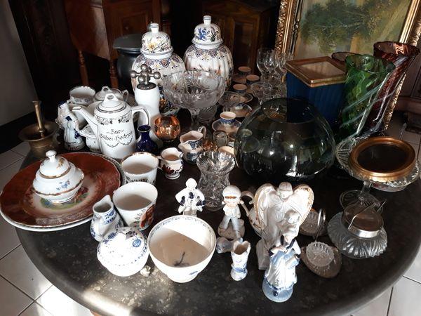 Geschirr, Gläser, Bierkrüge,Vasen