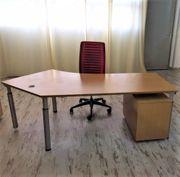 WINI Büroeinrichtung Schreibtisch 1x Rollcontainer