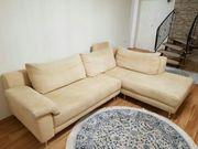 Helle hochwertige Wohnlandschaft Couch Sofa