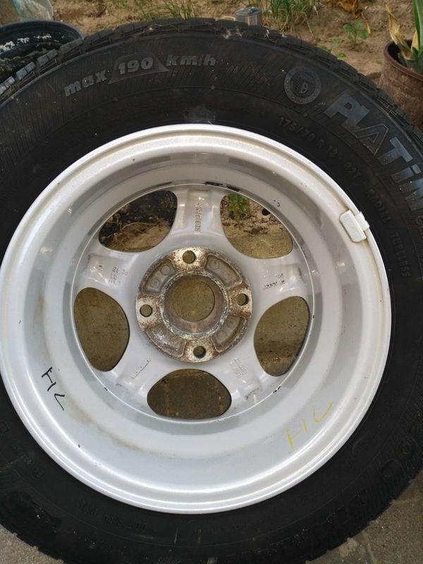 Autoreifen 13 Zoll Felgen - Germersheim - Sommer-Reifen guter Zustand, wenig gefahren, Alufelgen, 175/70 R13An Selbstabholer - Germersheim