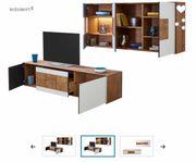 Wohnkombination Tisch Sideboard Hängeelement