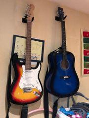 E-Gitarre mit Verstärker und Tasche