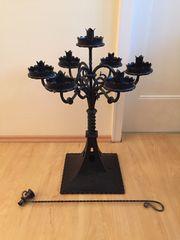 Kerzenständer Schmiedeeisen 7 Armig antik