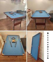 Billardtisch klappbar - 140 x 74